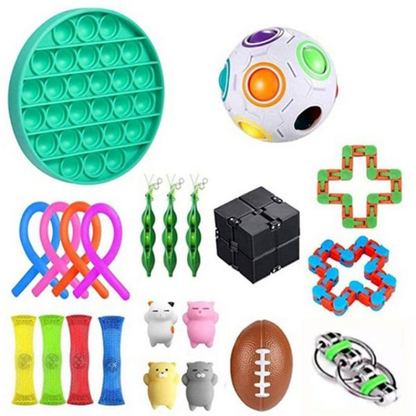 22 Pack Stress Relief Toy Set Anti Fidget Toys Push Bubble Stretchy Strings Cube Marble Mesh 2.jpg 640x640 2 - Wacky Track