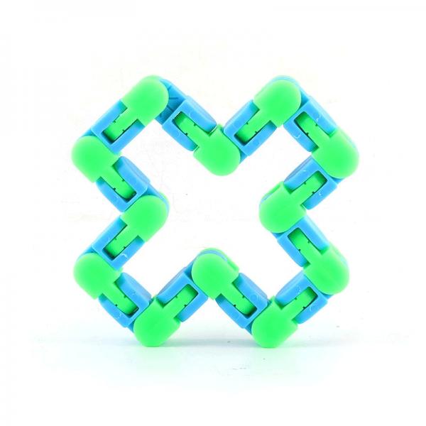 24-Knots-Blue-Green-Wacky-Tracks-Fidget-Toys-Anti-Stress