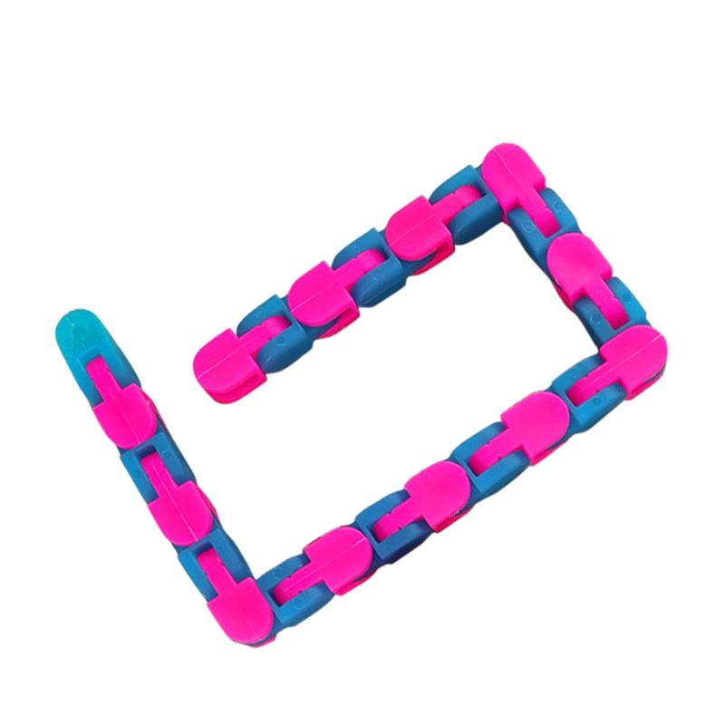 24 Knots Glow Pink Blue Wacky Tracks Fidget Toys for Stress Relief