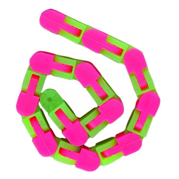 24 Links Wacky Tracks Snap And Click Fidget Toys Luminous Sensory Toy Squishy Reliever Toy Adult 2 - Wacky Track