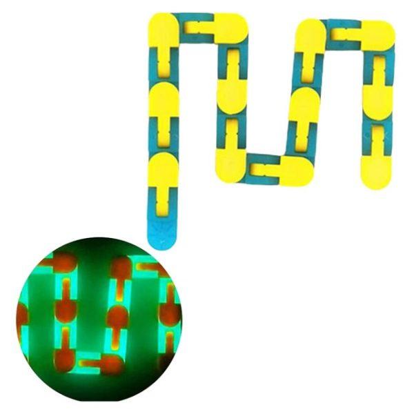 24 Links Wacky Tracks Snap And Click Fidget Toys Luminous Sensory Toy Squishy Reliever Toy Adult 3.jpg 640x640 3 - Wacky Track