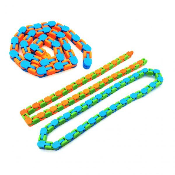 3PCS Wacky Tracks Snap And Click Fidget Toys 24 48 Knot Chain Anti Stress Sensory Toy 1 - Wacky Track