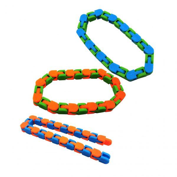 3PCS Wacky Tracks Snap And Click Fidget Toys 24 48 Knot Chain Anti Stress Sensory Toy 2 - Wacky Track
