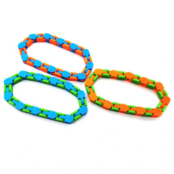 3PCS Wacky Tracks Snap And Click Fidget Toys 24 48 Knot Chain Anti Stress Sensory Toy 3 - Wacky Track