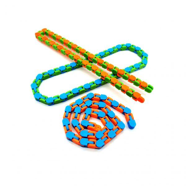 3PCS Wacky Tracks Snap And Click Fidget Toys 24 48 Knot Chain Anti Stress Sensory Toy - Wacky Track