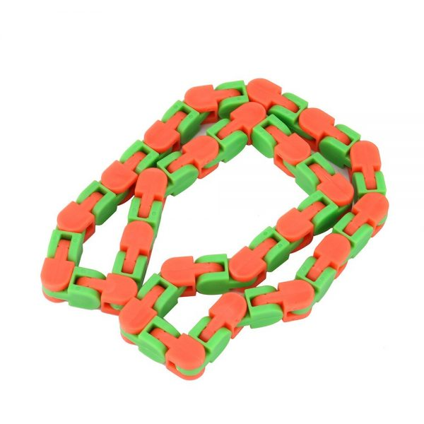 Colorful Puzzle Sensory Fidget Toys Stress Relief Rotate And Shape Wacky Tracks Snap and Click Fidget 3 - Wacky Track