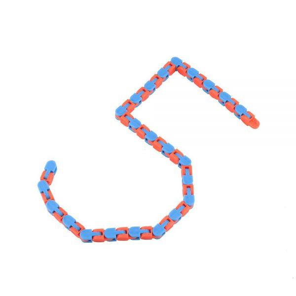 Colorful Puzzle Sensory Fidget Toys Stress Relief Rotate And Shape Wacky Tracks Snap and Click Fidget 4 - Wacky Track