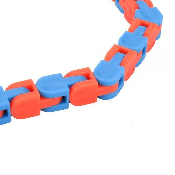 Colorful Puzzle Sensory Fidget Toys Stress Relief Rotate And Shape Wacky Tracks Snap and Click Fidget 5 - Wacky Track