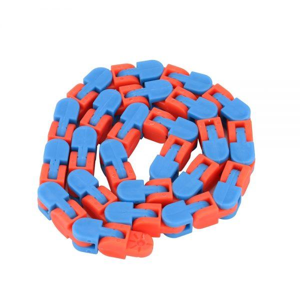 Colorful Puzzle Sensory Fidget Toys Stress Relief Rotate And Shape Wacky Tracks Snap and Click Fidget - Wacky Track