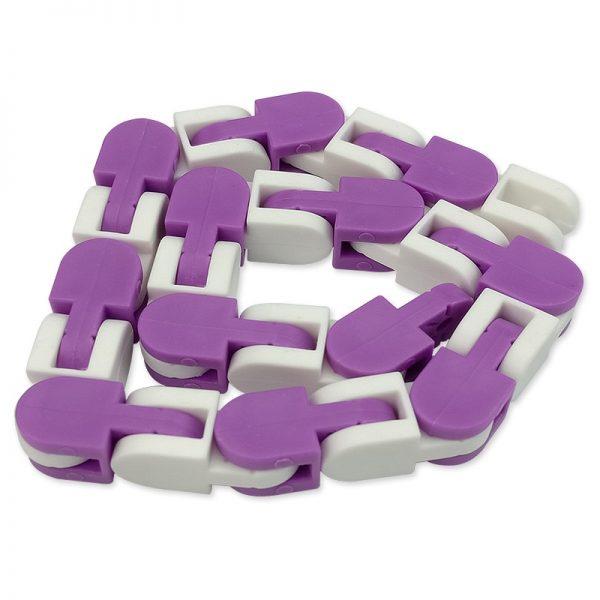 New 48 Knots Wacky Tracks Fidget Antistress Chain Toy For Children Bike Chain Stress Relief Bracelet 1 - Wacky Track