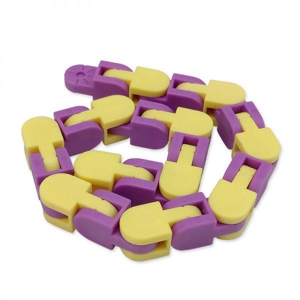 New 48 Knots Wacky Tracks Fidget Antistress Chain Toy For Children Bike Chain Stress Relief Bracelet 2 - Wacky Track