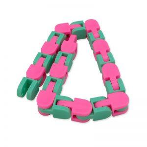 New 48 Knots Wacky Tracks Fidget Antistress Chain Toy For Children Bike Chain Stress Relief Bracelet 3 - Wacky Track