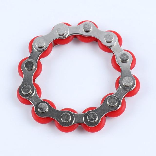 bike chain fidget 812 knots new key ring fidget toy 3437 - Wacky Track
