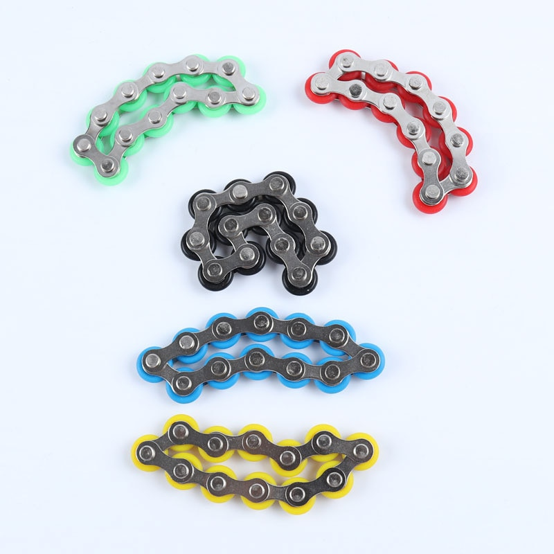 bike chain fidget 812 knots new key ring fidget toy 5143 - Wacky Track