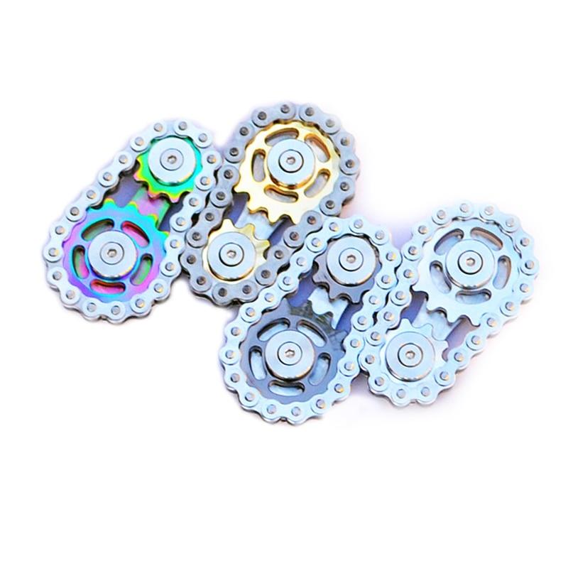 bike chain fidget stainless steel metal sprocket flywheel fidget toy 1026 - Wacky Track