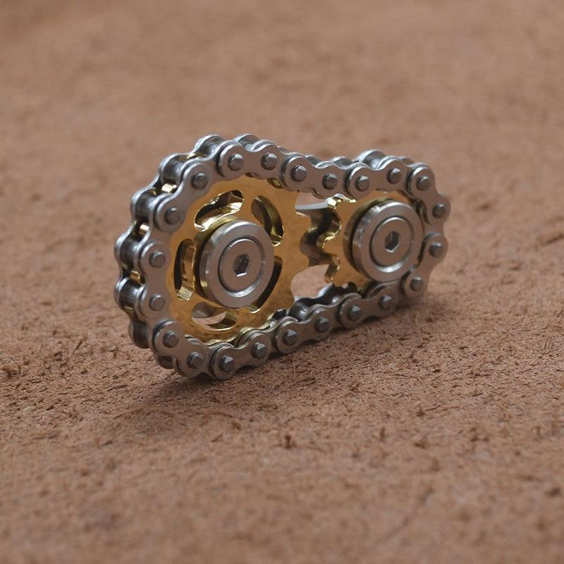 bike chain fidget stainless steel metal sprocket flywheel fidget toy 1496 - Wacky Track