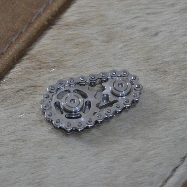 bike chain fidget stainless steel metal sprocket flywheel fidget toy 2333 - Wacky Track