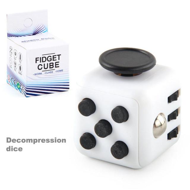 colourful cube fidget cube toy 1889 - Wacky Track