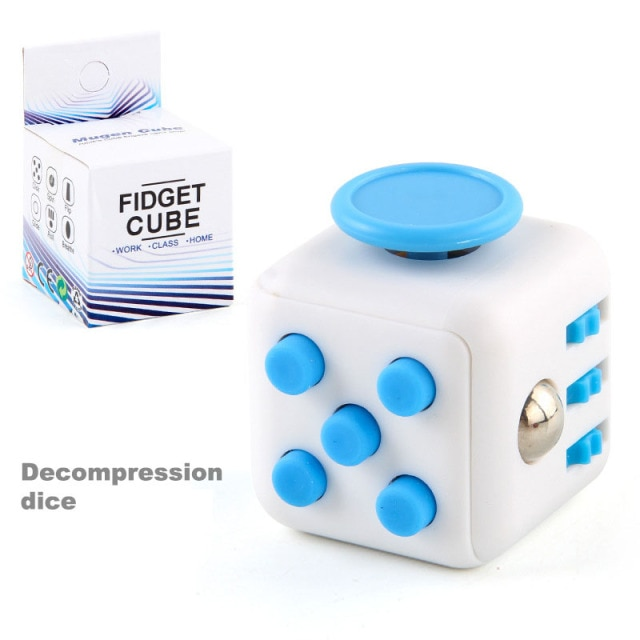 colourful cube fidget cube toy 2595 - Wacky Track