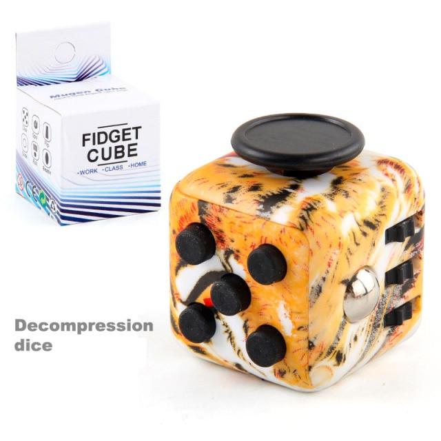 colourful cube fidget cube toy 3052 - Wacky Track