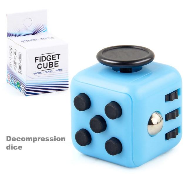 colourful cube fidget cube toy 4424 - Wacky Track
