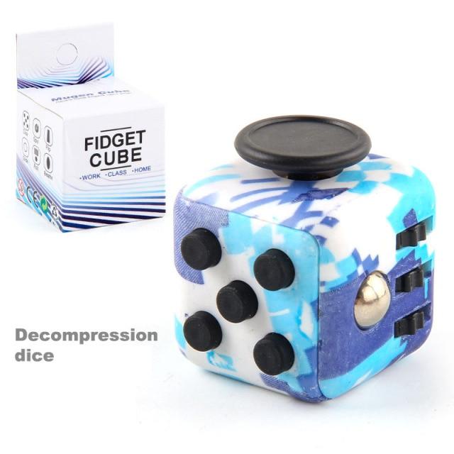 colourful cube fidget cube toy 4964 - Wacky Track