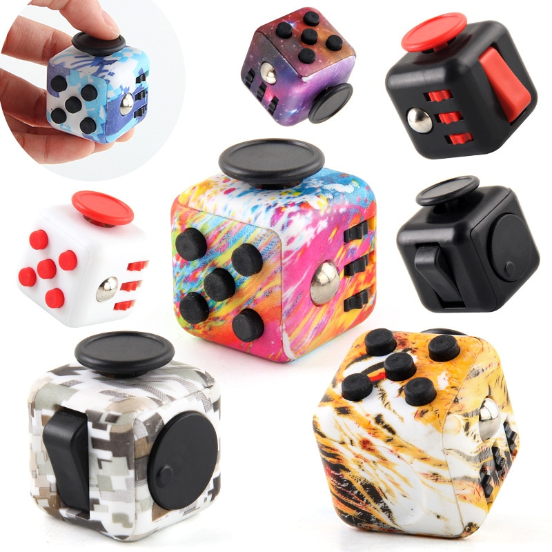 colourful cube fidget cube toy 5312 - Wacky Track
