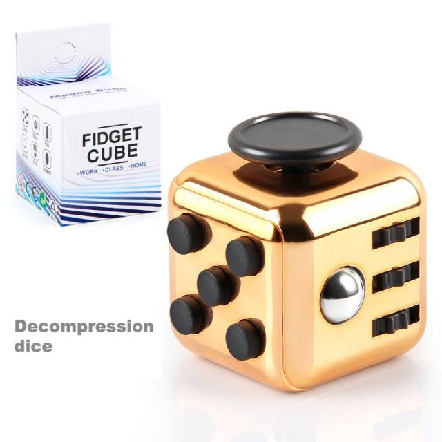 colourful cube fidget cube toy 5698 - Wacky Track