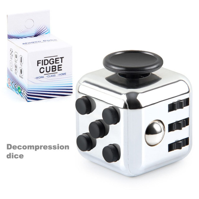 colourful cube fidget cube toy 5855 - Wacky Track