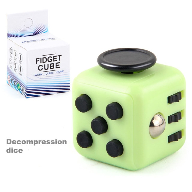 colourful cube fidget cube toy 7056 - Wacky Track