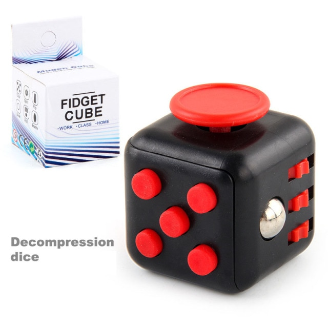 colourful cube fidget cube toy 7546 - Wacky Track