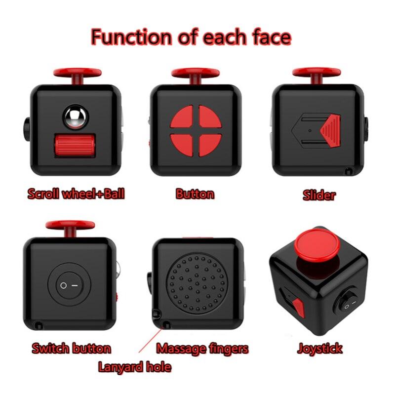 fidget cube colourful cube fidget toy 4406 - Wacky Track