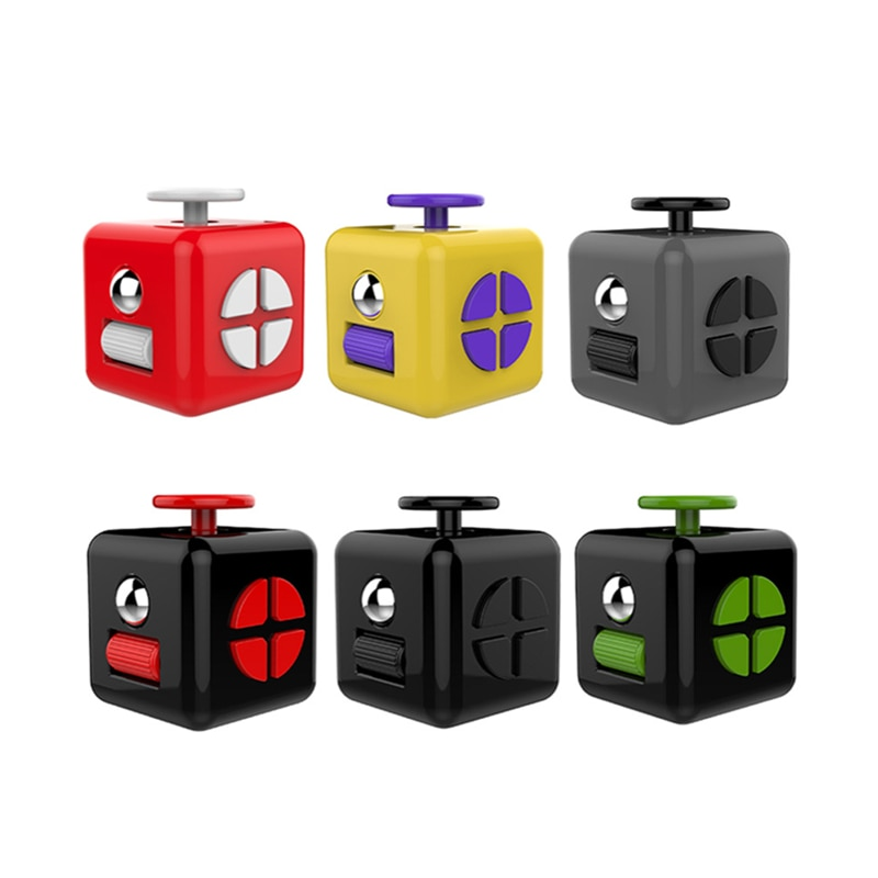 fidget cube colourful cube fidget toy 6235 - Wacky Track