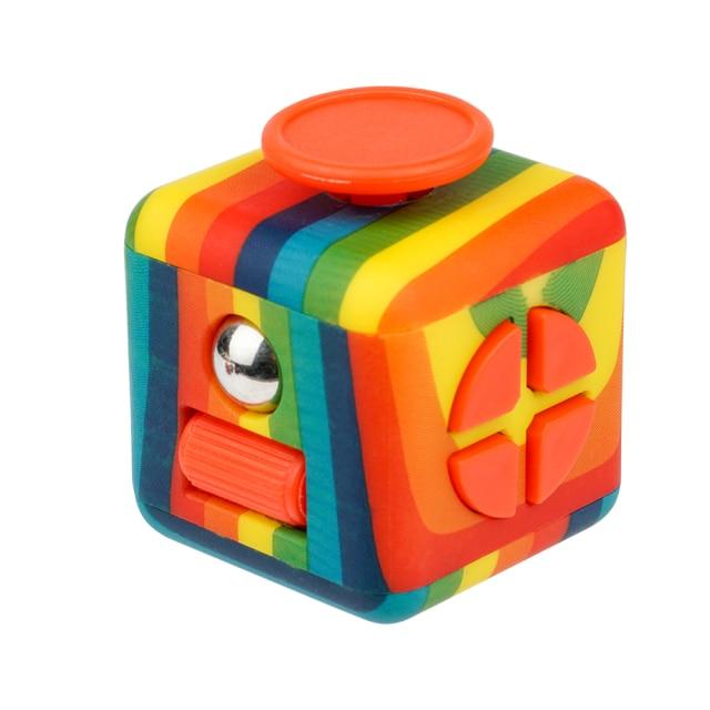 fidget cube colourful cube fidget toy 7936 - Wacky Track