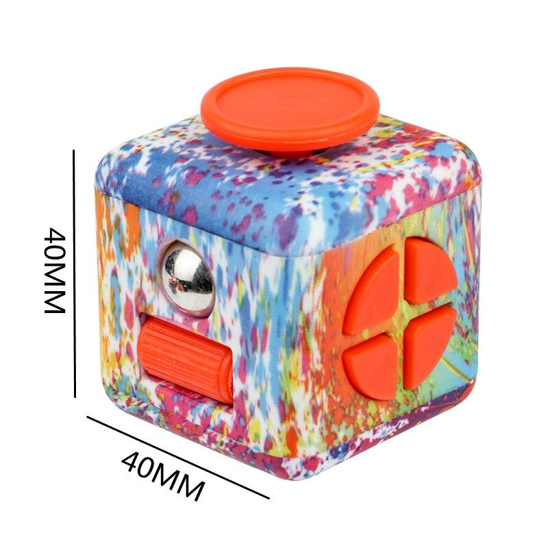fidget cube colourful cube fidget toy 8930 - Wacky Track