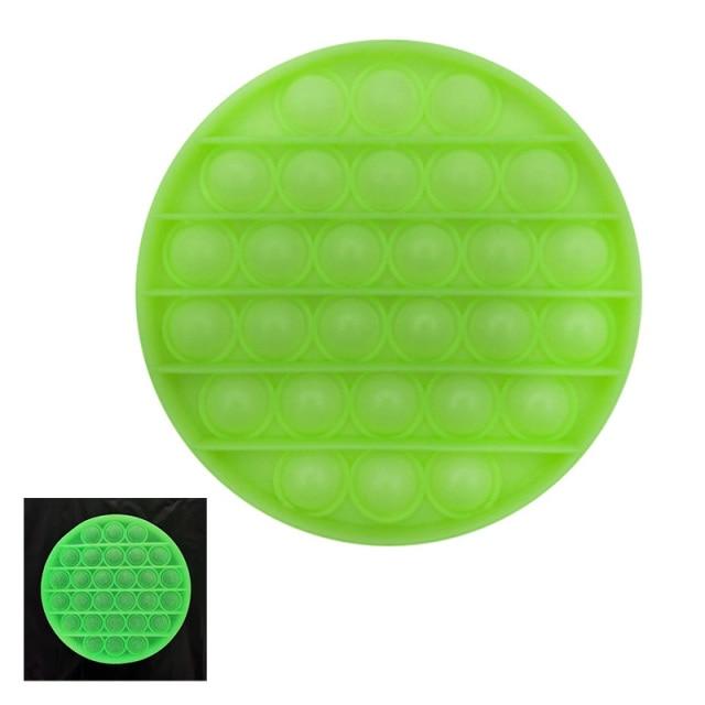 glow round shapes pop it fidgets anti stress toy 1120 - Wacky Track