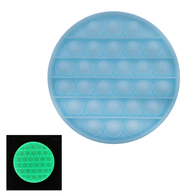 glow round shapes pop it fidgets anti stress toy 5322 - Wacky Track