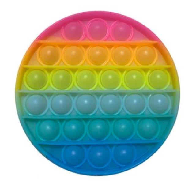 glow round shapes pop it fidgets anti stress toy 5649 - Wacky Track