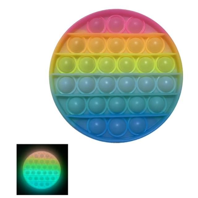 glow round shapes pop it fidgets anti stress toy 7719 - Wacky Track