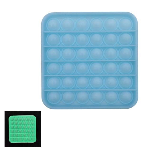 glow square shapes pop it fidgets anti stress toy 4999 - Wacky Track