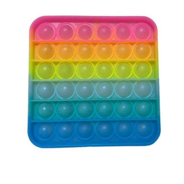 glow square shapes pop it fidgets anti stress toy 5381 - Wacky Track