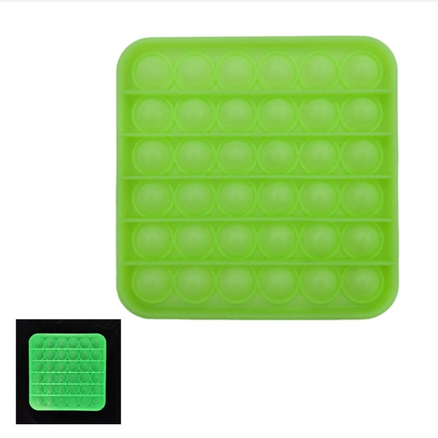 glow square shapes pop it fidgets anti stress toy 6700 - Wacky Track