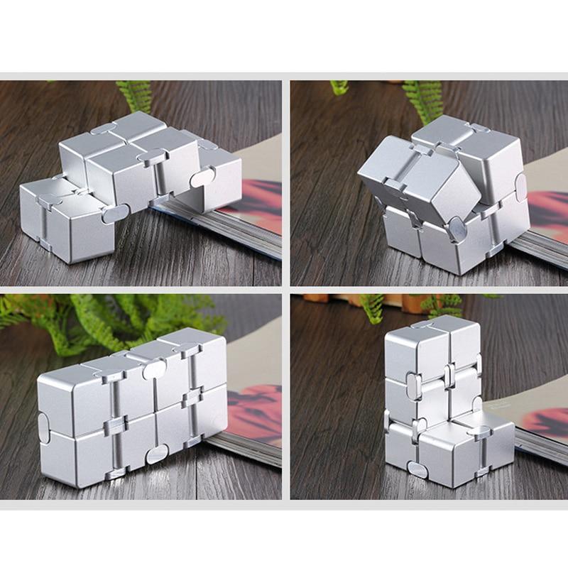 infinity cube metal cube fidget toy 8736 - Wacky Track