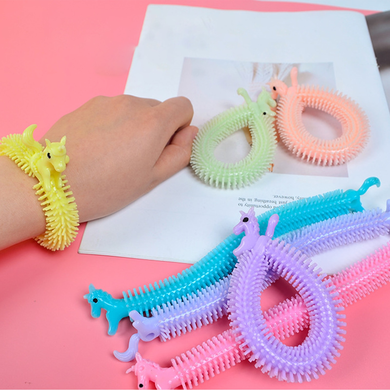 monkey noodle unicorn elastic rope stretchy fidget toy 1191 - Wacky Track