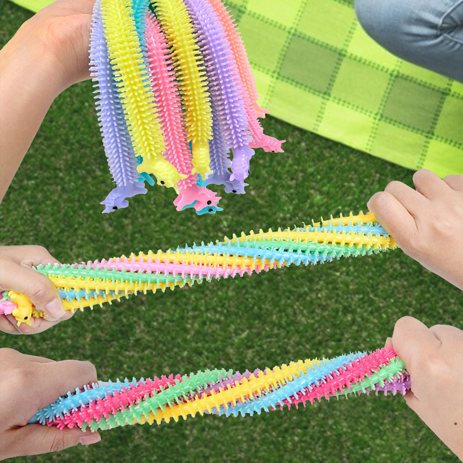 monkey noodle unicorn elastic rope stretchy fidget toy 3292 - Wacky Track
