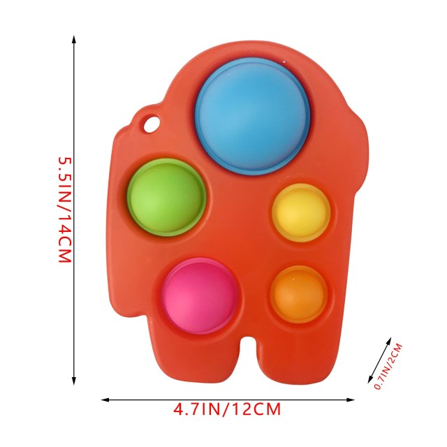 pop it 3 sided spinner fidget toy 2582 - Wacky Track