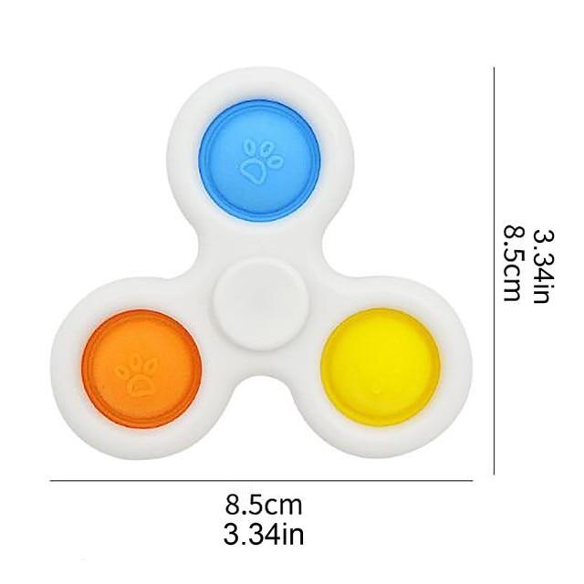 pop it 3 sided spinner fidget toy 3123 - Wacky Track