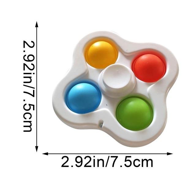 pop it 3 sided spinner fidget toy 3227 - Wacky Track