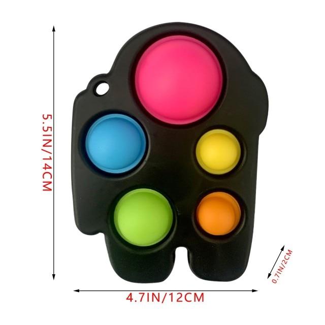 pop it 3 sided spinner fidget toy 3531 - Wacky Track