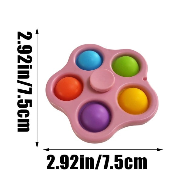 pop it 3 sided spinner fidget toy 5864 - Wacky Track